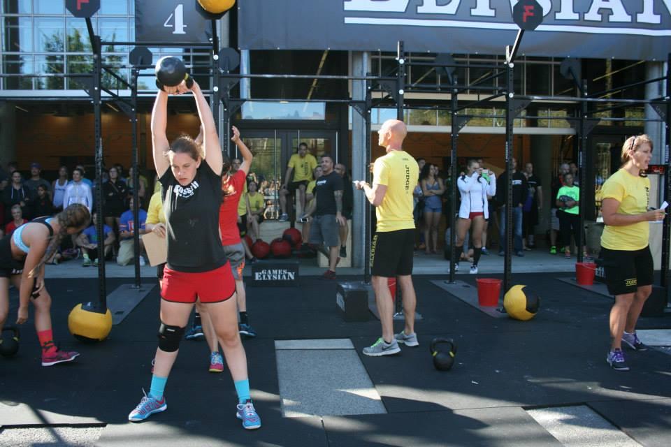 Marissa competing at the Elysian Games