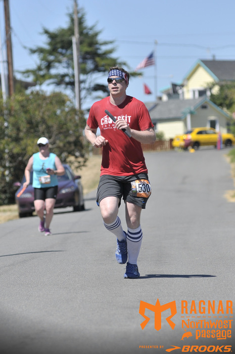 Robert running in the 200 mile Ragnar Relay race