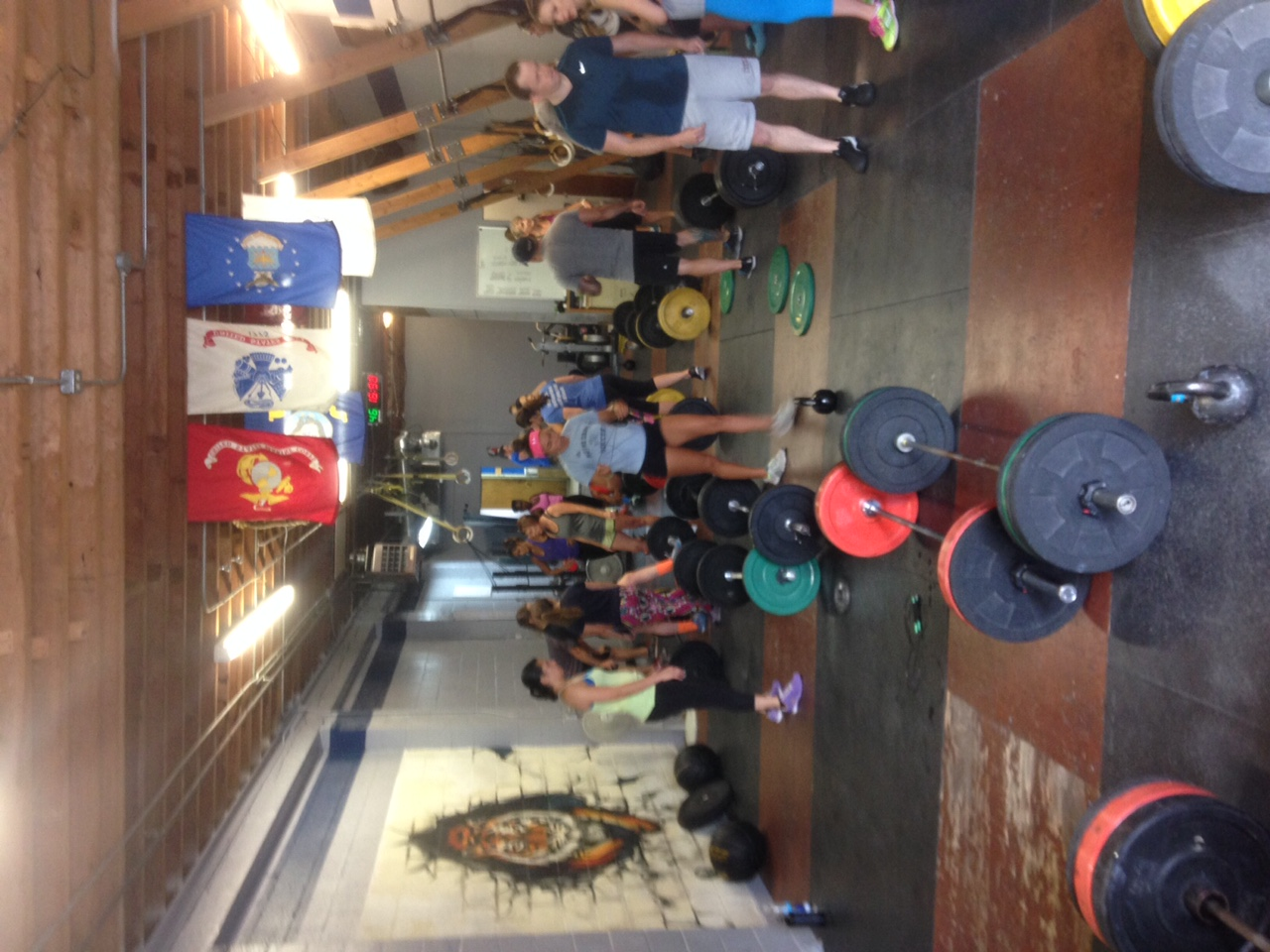 Saturday had barbells and people everywhere, it was such a bad a$$ site to see.