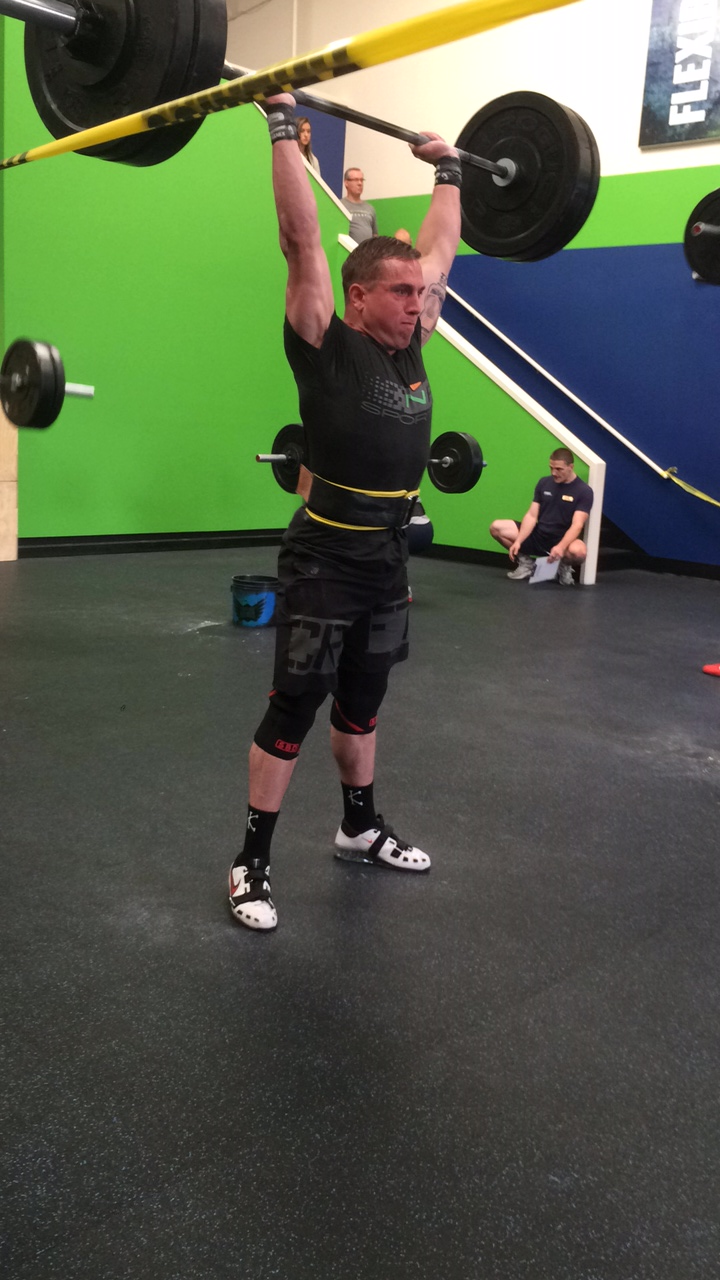 Coach Shea on the Thruster Ladder
