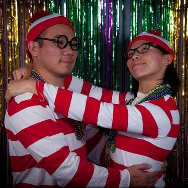 CFIB 4 year Anniversary party theme was Mardi Gras.......but you always need a where's Waldo