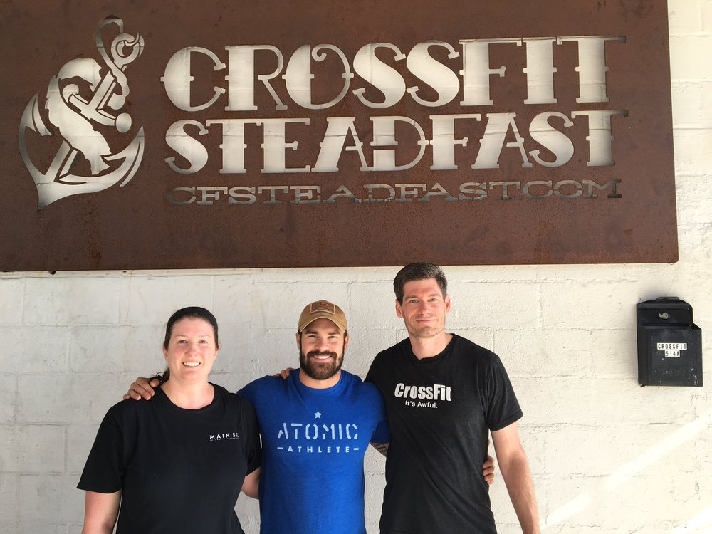 Tiffany and Brad dropped in at Crossfit Steadfast in Savannah which is Mary's old gym