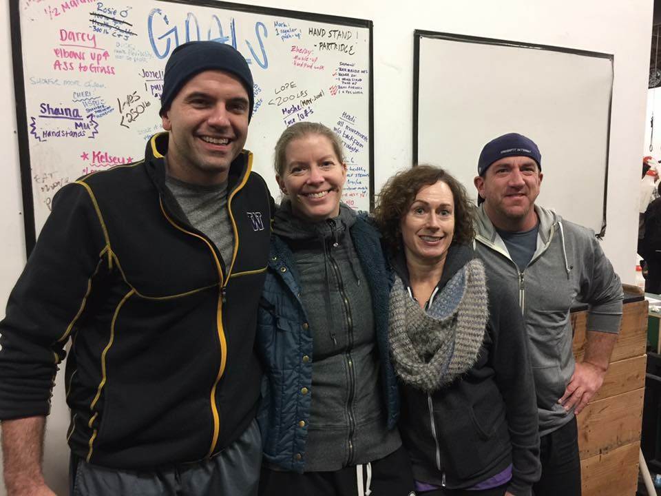 "Jim, NIcole, Nicole and Steve.  2nd Place overall Masters team ""4 Unicorns of the Apocalypse"""