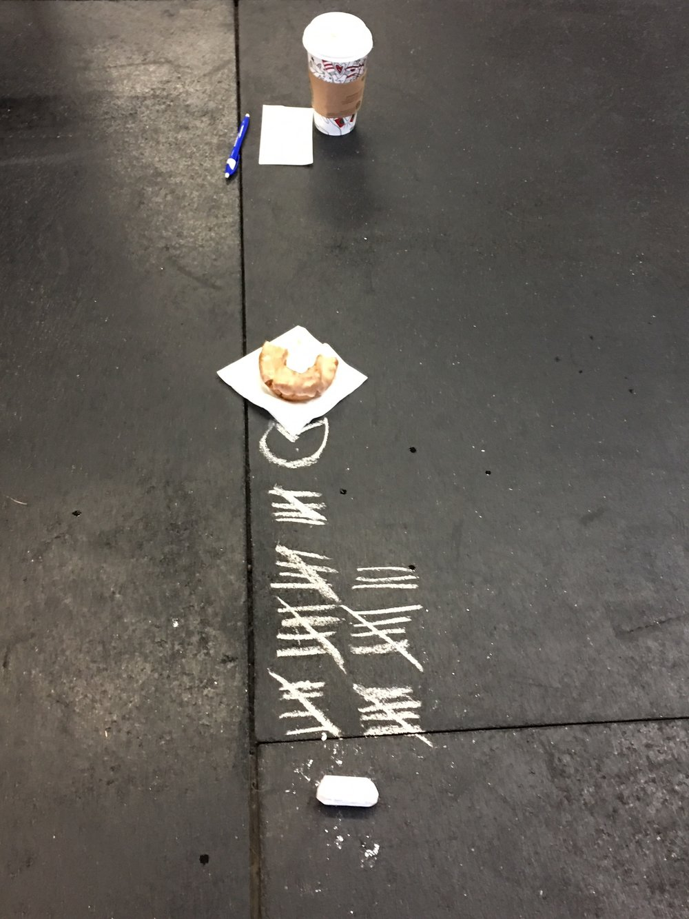 Jim gave himself a donut goal once he reached a certain number of burpees