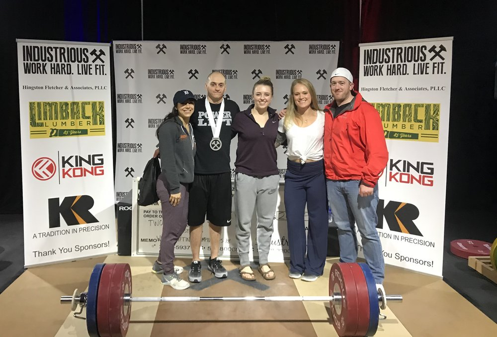 Phil and Jess competed at the Industrious Weightlifting Championships this weekend, and both killed it! Phil took third overall, with competition PRs in both the snatch and clean and jerk. Jess crushed it also, setting new personal records for herself in both lifts! Way to go guys!!!