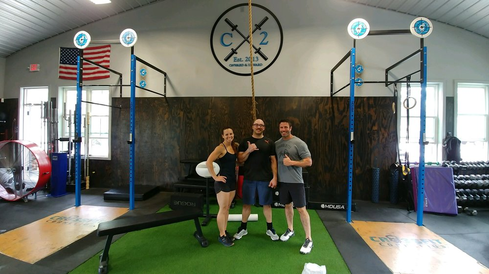 Vernon dropping into CrossfIt Cornelius while out of town :)