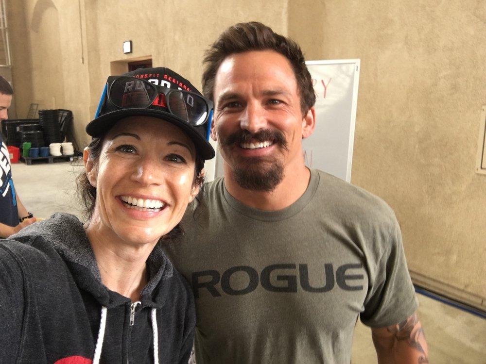 Coach Kari making friends at the CrossFit West Regional!