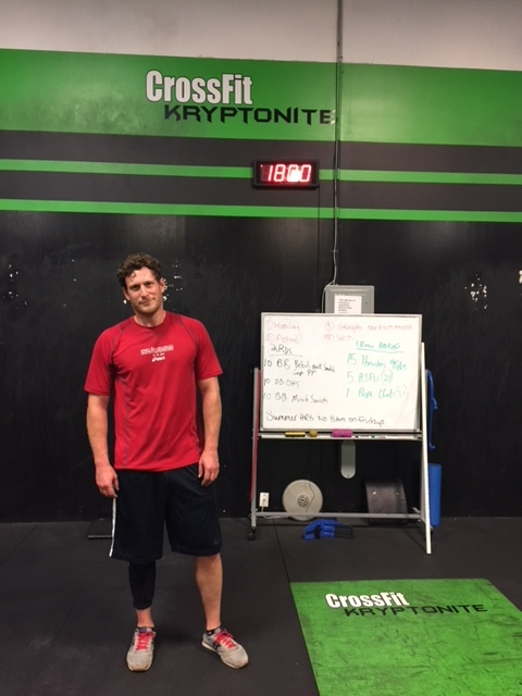"David K. dropping in at CrossFit Kryptonite in Long Island, NY! He told me his routine there is ""Strong Island""...aka GTL...aka GYM-TAN-LAUNDRY. Kinda jealous."