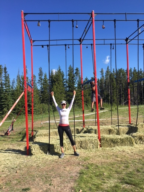 Shelley C. after conquering the rope climb at the Spartan Beast last weekend!!