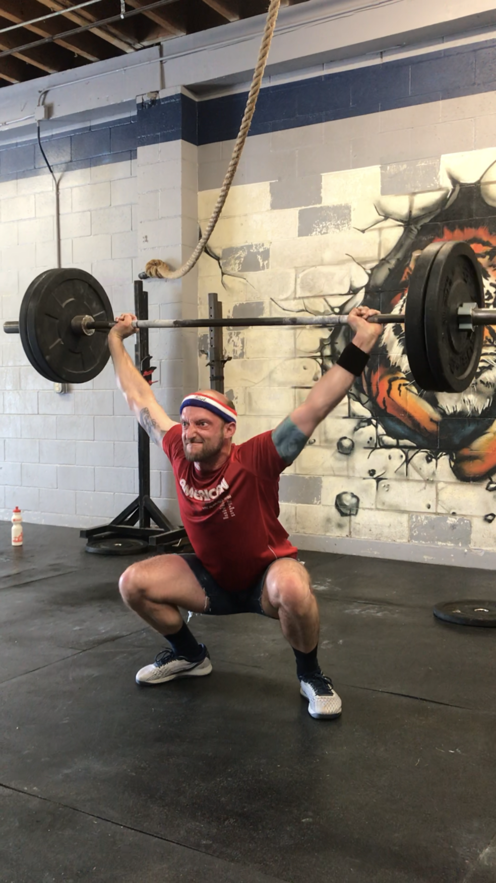 Mike S. *WARNING!!! Overhead Squatting in jean shorts not for the faint of heart!!*