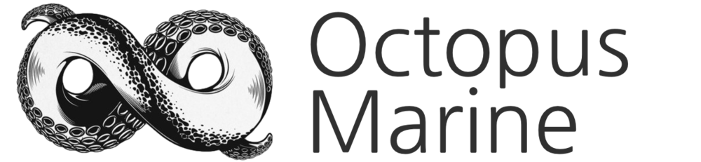 Octopus Marine Logo only BW.png