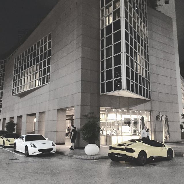 Everyone drives a Lamborghini here!