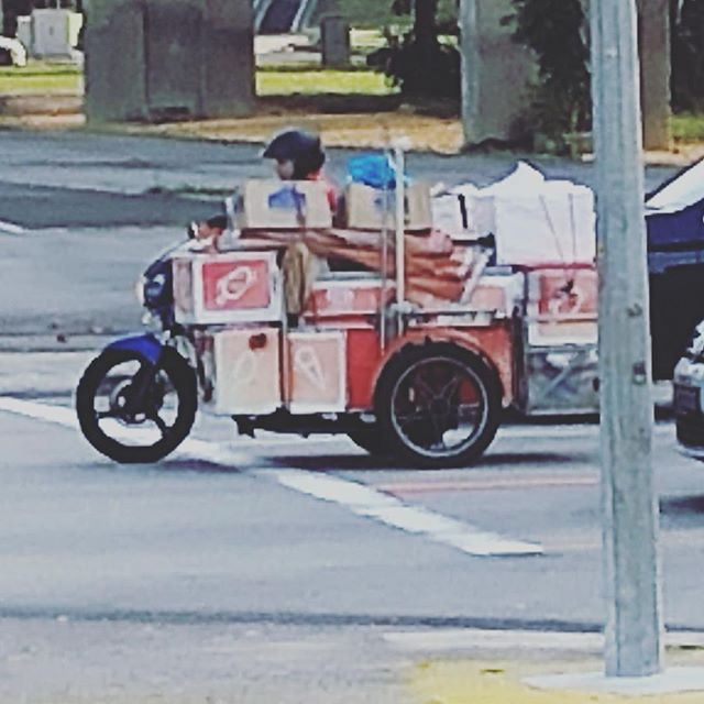 Motorcycle and a truck had a baby... saw this on a Singapore street.