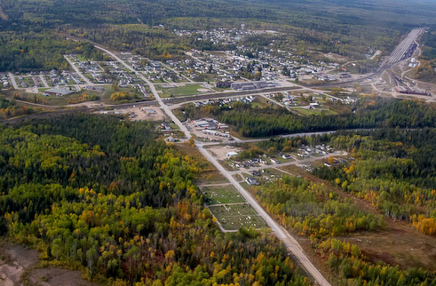 Aerial photo of Hornepayne