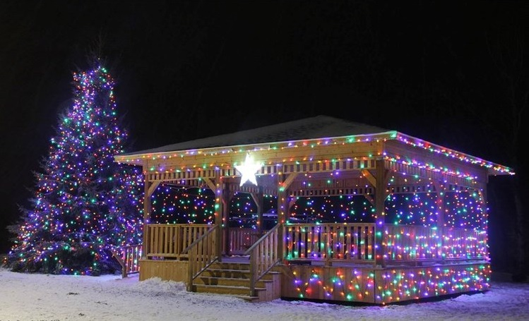"""Courtesy of Eddie Rendell  Photo after the second annual """"Light the Tree"""" festival, a celebration with hot chocolate, joyous caroling, beautiful lights, warm smiles and maybe best of all: a large Christmas tree bonfire"""
