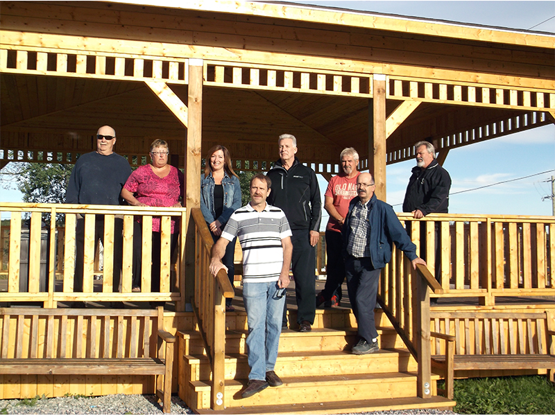 """Image courtesy of the Nuclear Waste Management Organization website ,  where it was hosted with the caption  """"Hornepayne Gazebo built by local volunteers and headed up by the HEDC with funding provided by NWMO - October 2015."""""""