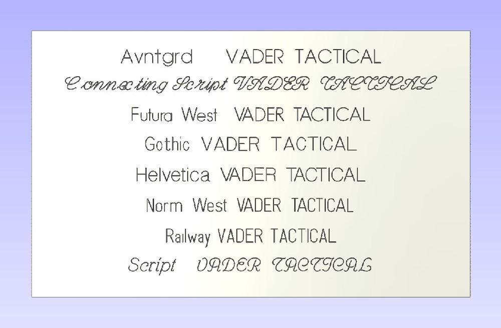 Single line fonts