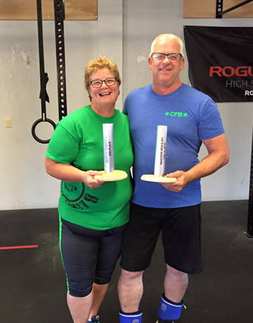 Nancy & Tim winning 2nd place each at the Festivus Games 2015