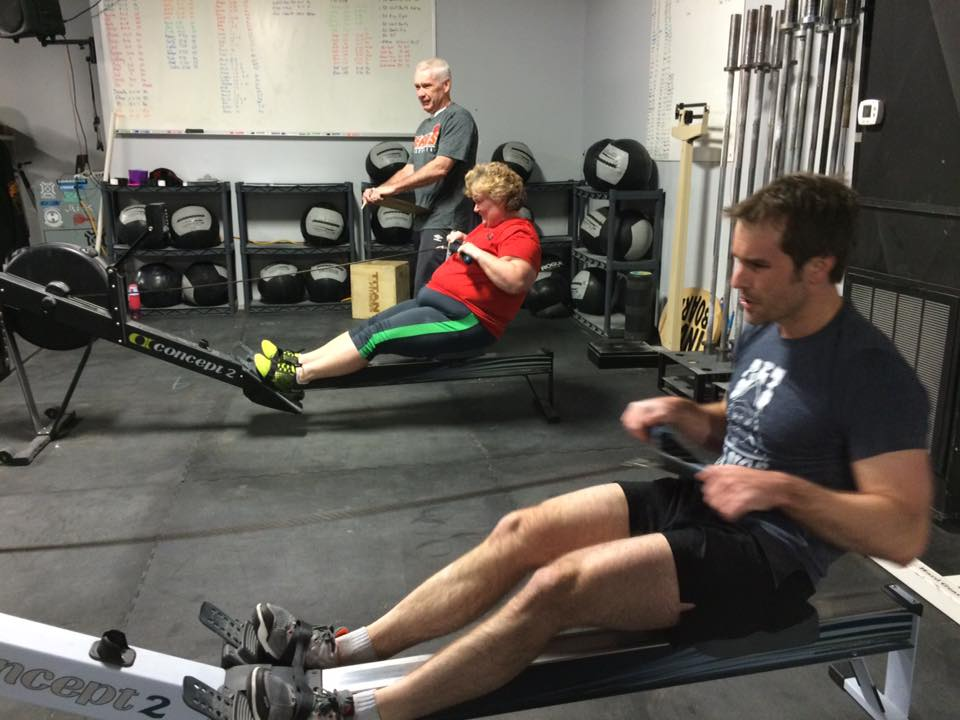 Coach Mike, Nancy and Aaron on 16.4