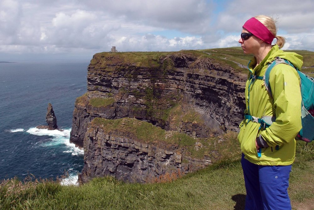 Getting outdoors in Ireland at the Cliffs of Moher