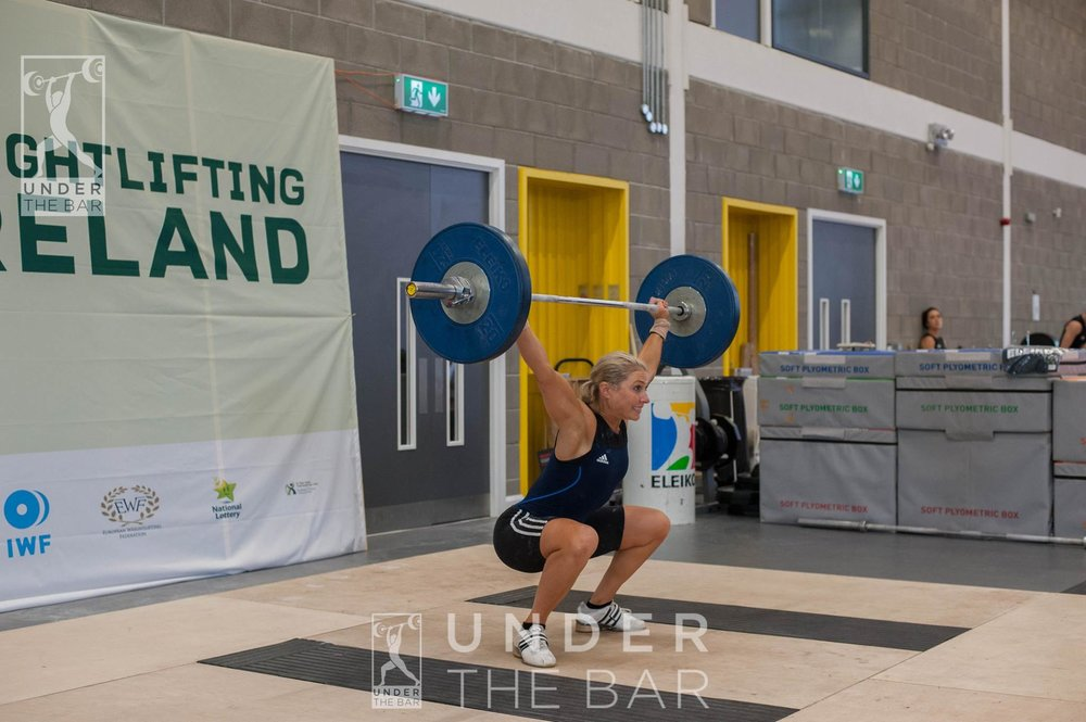 Body weight snatch, FINALLY! 2016 Irish National Championships.