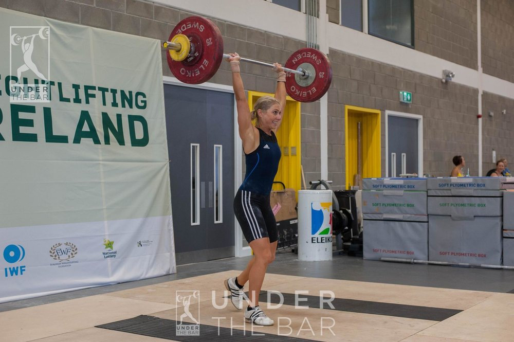 Pleased with this clean & jerk at the 2016 Irish Nationals, taking second place in the 63s.