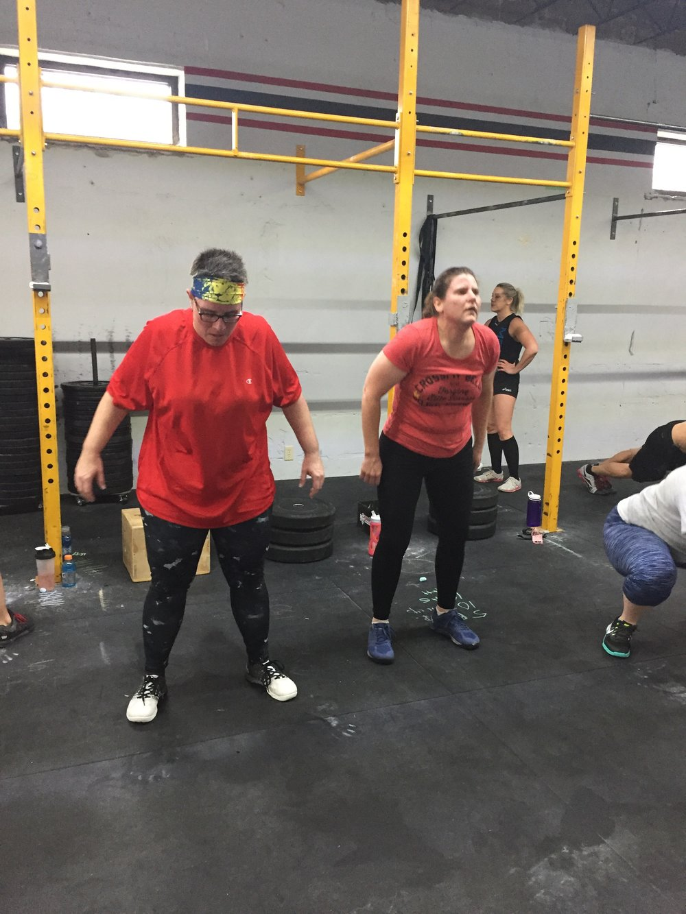 Couples who WOD together...Tina and Joanne crushing their Cindy retest.