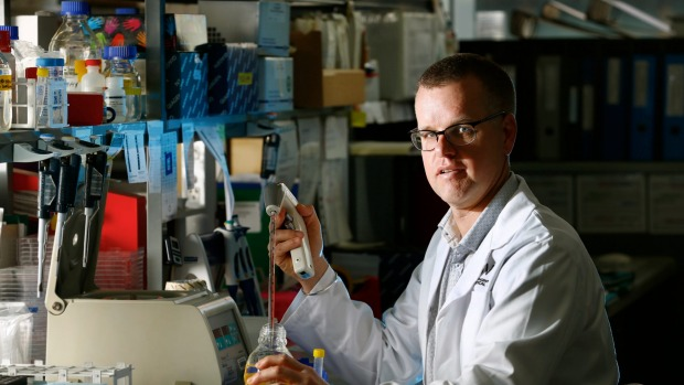 Dr Stuart Mannering from St Vincent's Institute of Medical Research said the goal was to design a vaccine for type 1 diabetes. Photo: Eddie Jim- Image courtesy of the Age Read more: http://www.smh.com.au/technology/sci-tech/researchers-give-type-1-diabetics-new-hope-20160210-gmr1lh.html#ixzz3zvey1MUl Follow us: @smh on Twitter | sydneymorningherald on Facebook