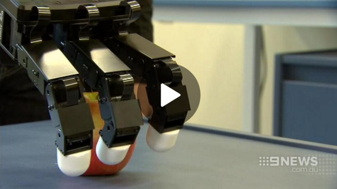 May 28, 2016: The discovery could help return full movement and the sense of touch to amputees and aid recovery for patients with paralysis.   Read more at http://www.9news.com.au/national/2016/05/28/12/24/melbourne-researchers-robotic-arm-breakthrough-could-help-restore-touch-for-amputees#pkm2LQGa8Hroj9XC.99