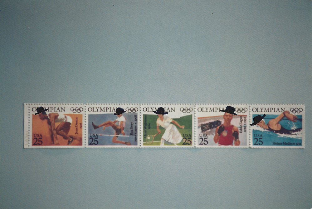 5 Olympian stamps