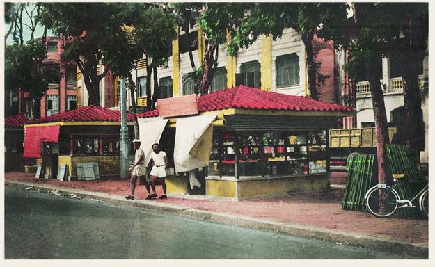 Kisoks in a Bazaar, Saigon