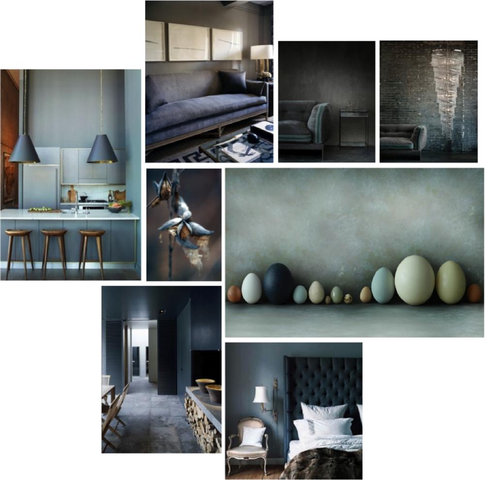 Easter Egg Hunt Mood Board. Grey and Beige Kitchens, Bedrooms, Living Room.