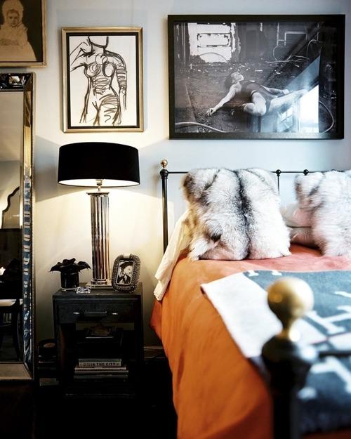 Orange Bedcover bedroom