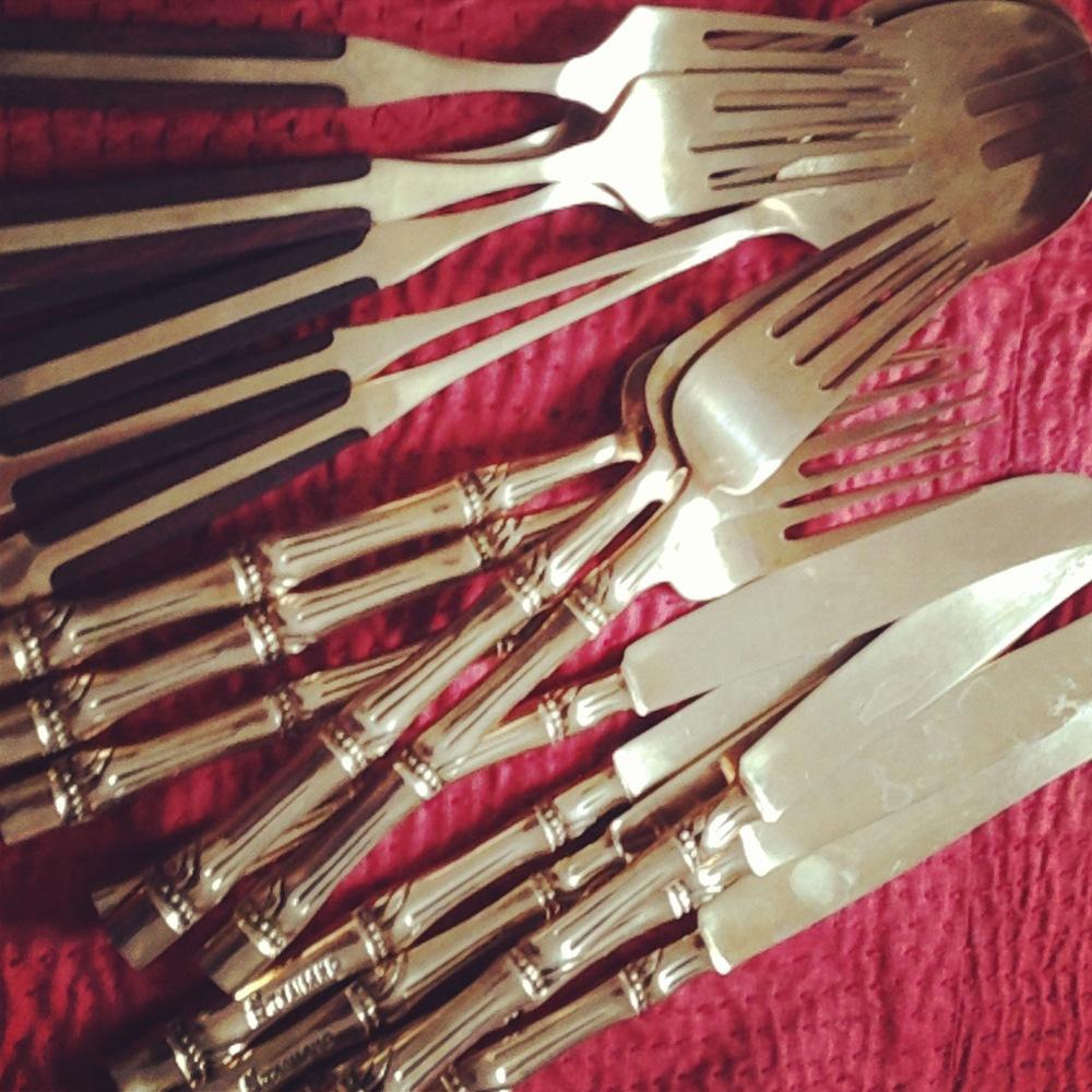 Brass Vintage Cutlery