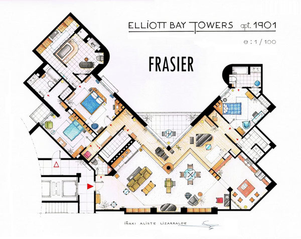 Floor Plans of Famous TV apartments
