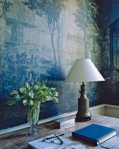 Blue Chinoiserie Wallpaper