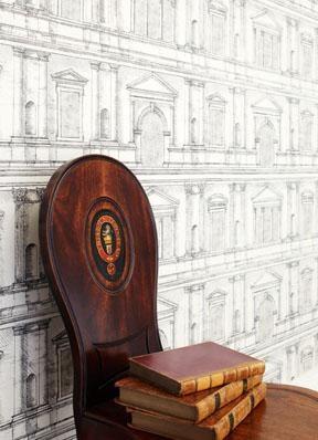 Intaglio Wallpaper Zoffany