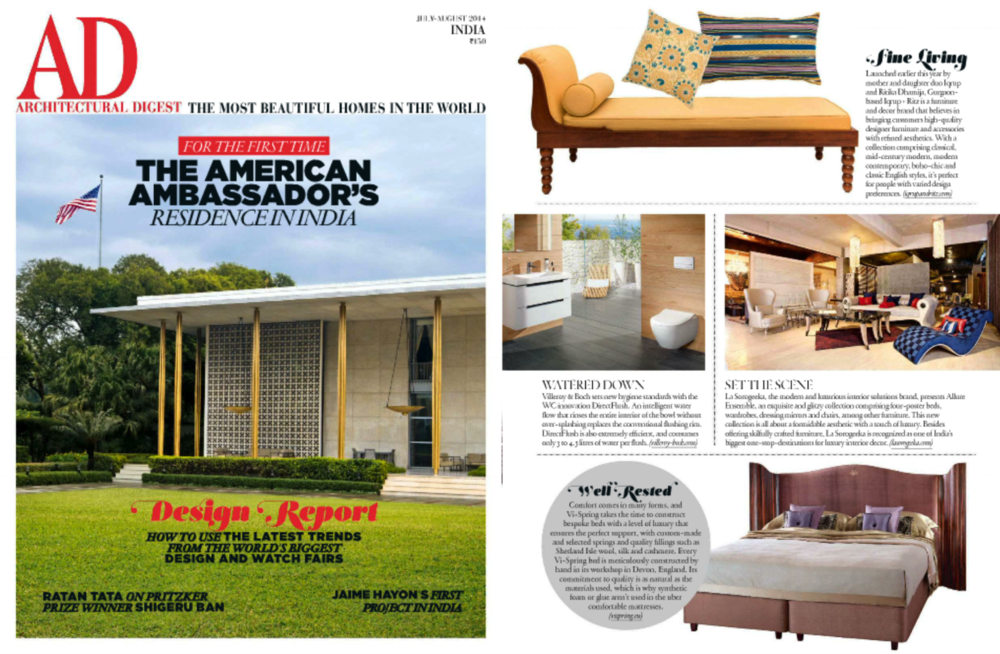 Architectural Digest June - Iqrup Ritz