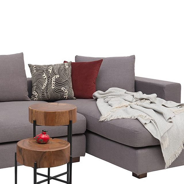 Our Snooze modular sofa is perfect for lazy weekends and chill evenings with great company. #sidetables #rustic #modular #sofa #darksofa #grey #gray #scandinavian #scandi