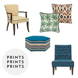 We love prints here at I+R HQ! They're a great way to spice up a home. Choose @safomasi fabrics or our chic ikats 😍😍 #interiordesign #interiors #design #furniture #chair #woodfurniture #handcrafted #handmade #craftsmanship #ottoman #pouf #royalblue
