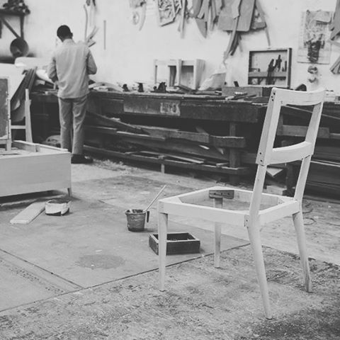 #Behindthescenes in one of our family-run workshops. #handmade #chair #furniture #workshop #craftsmanship #wellcrafted #handmade
