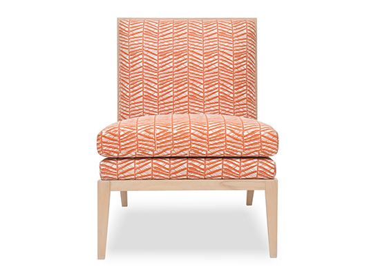 Madeleine Slipper chair in Bamboo Rust