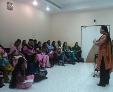 Training on malnutrition with ICDS and Umeed staff