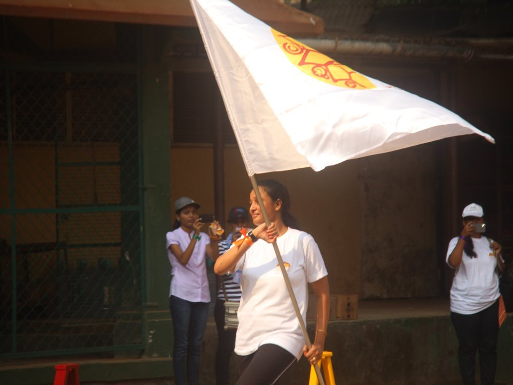 Flagging off the event