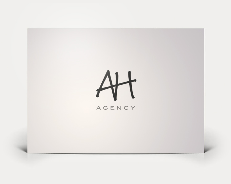 AH Agency logo design