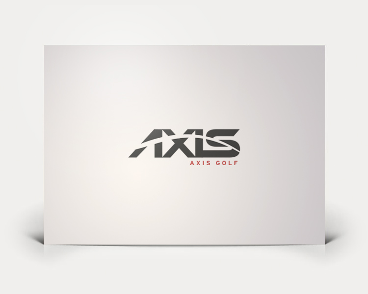 Axis Golf logo design
