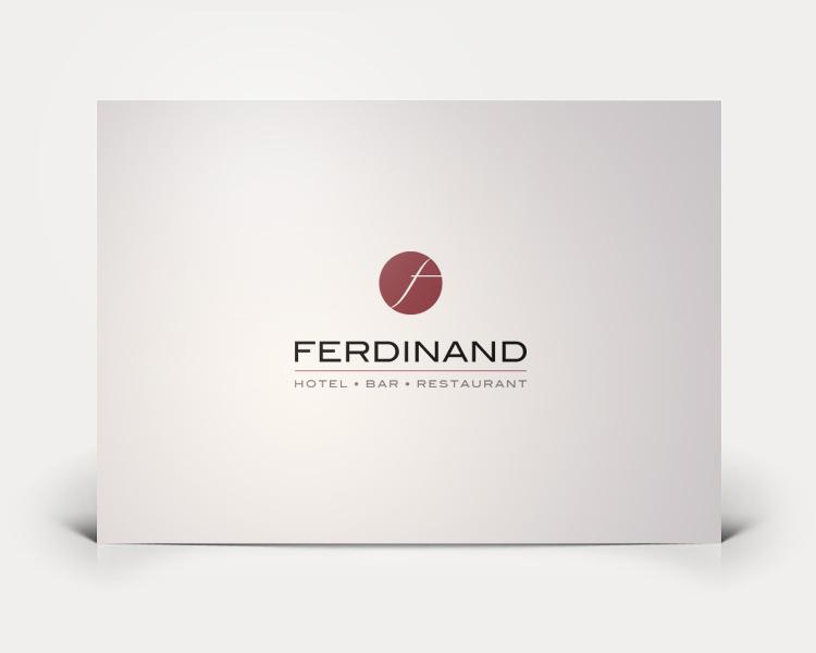 Hotel Ferdinand logo design