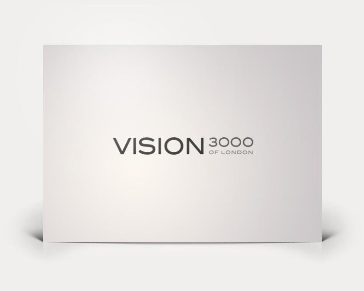 Vision3000 logo design