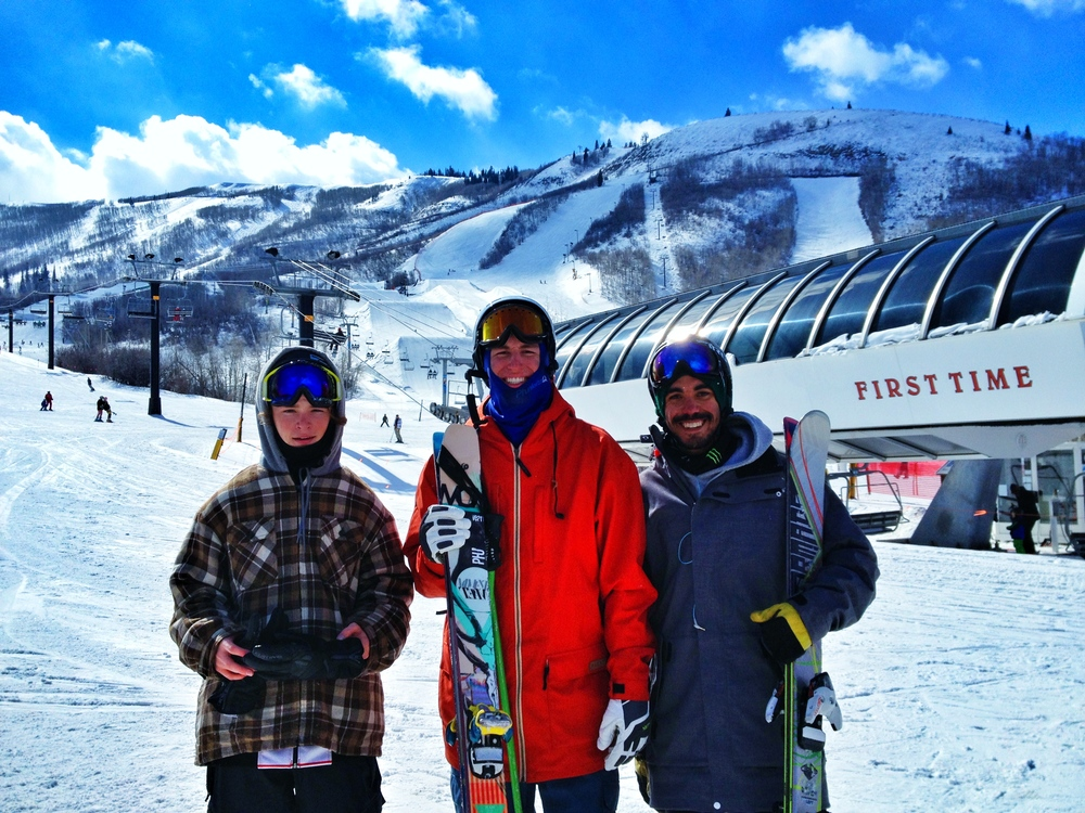 Kyle, Robby, and I after a fun day of skiing at Park City