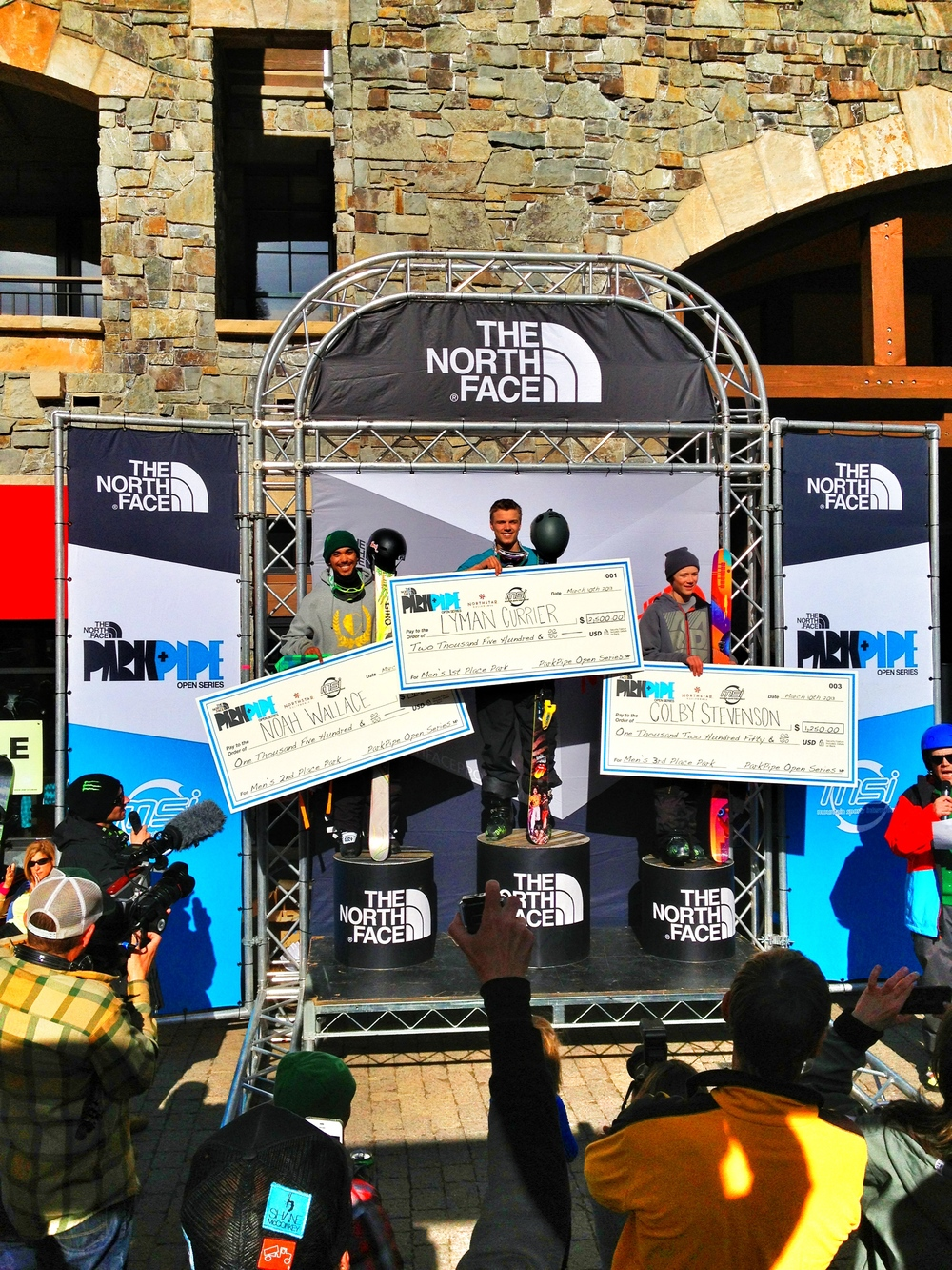Podium at the Northface Open